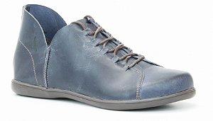 Sapato feminino em couro Wuell Casual Shoes - Ouro Preto - VC 33020 - marinho