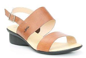 Sandália feminina em couro Wuell Casual Shoes - Caeté - NR 001863 - marrom