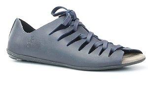 Sandália Rasteira Feminina em Couro Wuell Casual Shoes - Lavras Novas - VN101210 - marinho