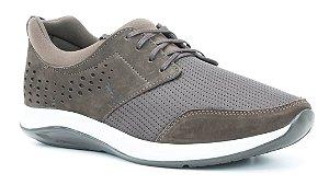 Tênis Casual Masculino em tecido e couro Wuell Casual Shoes - Caraça - TPS 60140 - Marrom