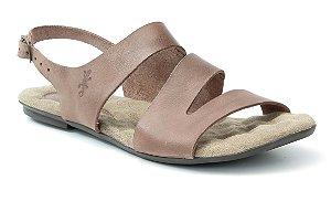 Sandália Rasteira Feminina em couro Wuell Casual Shoes - Lavras Novas -  VN 216202 - chocolate