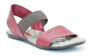 Sandália Rasteira Feminina em couro Wuell Casual Shoes - Lavras Novas  - VN 212232 - vermelha