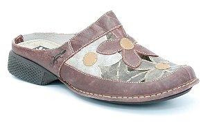 Babuch Feminina em couro Wuell Casual Shoes - Tiradentes - DA 1600-  vermelha