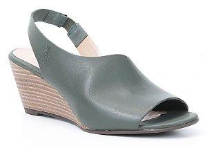 Sandália Feminina em couro Salto Anabela Wuell Casual Shoes - Lavras Novas  - VN 150400 - verde