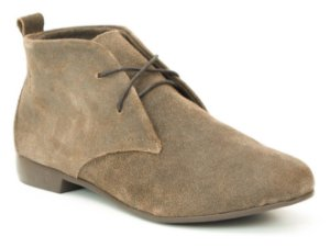 Bota Feminina cano curto em couro Wuell Casual Shoes - RO 0029 - marrom