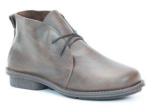 Bota Feminina cano curto em couro Wuell Casual Shoes - RO 2451 - marrom