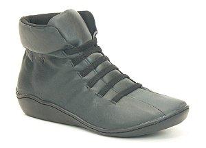 Bota feminina em couro Wuell Casual Shoes  - SAMI 76510 - preta