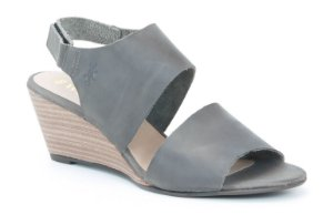 Sandália Anabela Feminina em couro Wuell Casual Shoes - SISA - 153400 - cinza