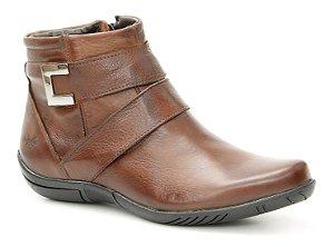 Bota Feminina em Couro Wuell Casual Shoes - Nuna - 4712 - marrom