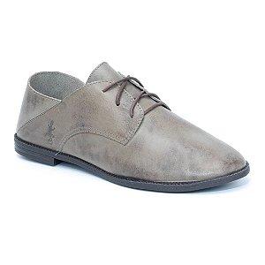Sapato Feminino em Couro Wuell Casual Shoes - Pacha - 4714 - cinza