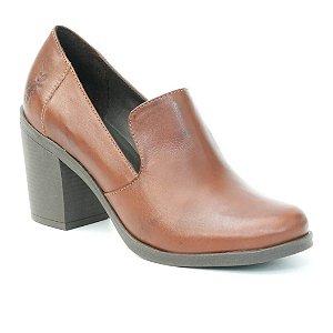 Sapato de Salto Alto Feminino em Couro Wuell Casual Shoes - Pacha - 4714 - marrom