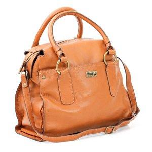 Bolsa em Couro média Feminina Wuell Casual Shoes - Killa - 3430 - marrom claro