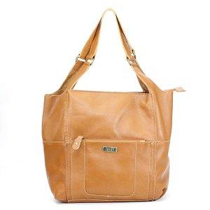 Bolsa em Couro Feminina Wuell Casual Shoes - Killa - 7030 - marrom claro