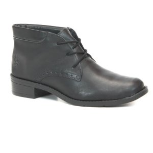 Bota Feminina em Couro Wuell Casual Shoes - PACHA 4850 - preta
