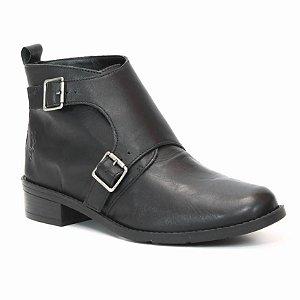 Bota Feminina de Couro Wuell Casual Shoes - PACHA 6750 - preta