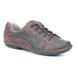 Sapatênis Feminino de couro Wuell Casual Shoes - KOYA - MA 5800 - vermelho