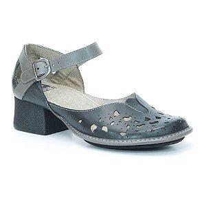 Sapato de salto médio Feminino em couro Wuell Casual Shoes - KOYA - KC 2500 - preto