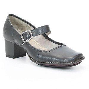 Sapato Feminino de salto médio em couro Wuell Casual Shoes - KOYA - RA 8000 - preto