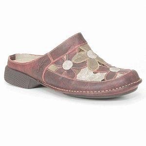 Babuch Feminina em couro Wuell Casual Shoes - AD 1600-  bordô