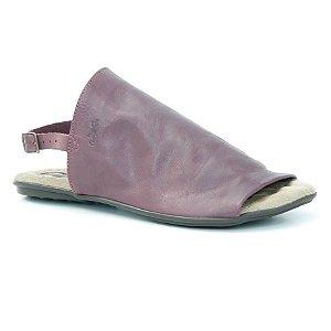 Sandália Rasteira Feminina em couro Wuell Casual Shoes - VN 252232 - bordô