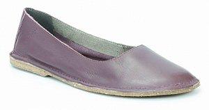 Sapatilha feminina em couro Wuell Casual Shoes - VN 001600 - bordô