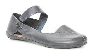 Sapatilha Feminina em couro Wuell Casual Shoes - Classic - VN 026620 - marinho