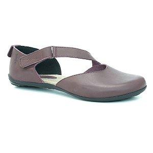Sapatilha Feminina em couro Wuell Casual Shoes - VN 012620 - bordô