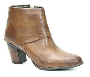 Bota de Salto Feminina em Couro Wuell Casual Shoes - SR - 5206 - marrom