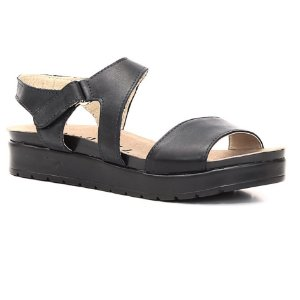 Sandália Anabela Feminina em Couro Wuell Casual Shoes - Rhea - BS 07220 - preta