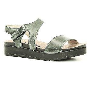 Sandália Anabela Feminina em Couro Wuell Casual Shoes - Rhea - BS 07220 - verde escovado