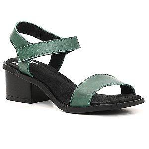 Sandália de salto médio Feminina em Couro Wuell Casual Shoes - Trida - NMB 00079 - verde