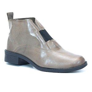 Bota Feminina vano baixo em Couro Wuell Casual Shoes - BZ 5650 - areia