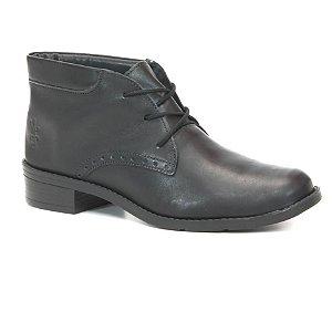 Bota Feminina cano baixo em Couro Wuell Casual Shoes - BZ 4850 - preta