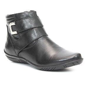 Bota Feminina em Couro Wuell Casual Shoes - SR- 4712 - preta