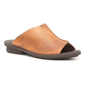 Sandália anabela Feminina em Couro Wuell Casual Shoes - Trida  - RO 3160 - laranja