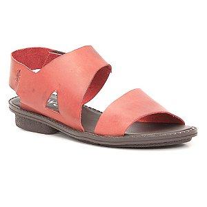Sandália anabela Feminina em Couro Wuell Casual Shoes - Trida - RO 1160 - vermelho