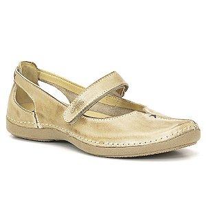 Sapatilha Feminina em Couro Wuell Casual Shoes - Athene - DR 10 - areia