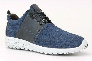 Tênis Masculino em tecido e couro Wuell Casual Shoes - Men - PST 10 - azul
