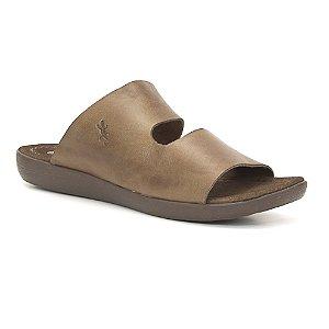 Sandália Feminina em Couro Wuell Casual Shoes -  Trida - ND 08015 - marrom