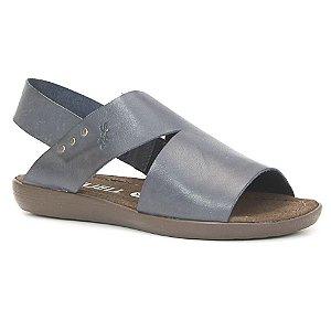 Sandália Feminina em Couro Wuell Casual Shoes - Trida - ND 08115 - azul