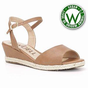 Sandália salto Anabela Feminina Wuell Casual Shoes - Vegan 3611 - marrom