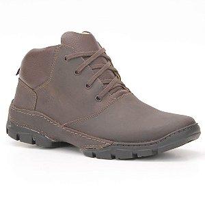 Bota Masculina em couro Wuell Casual Shoes - TPS - 42125 - marrom