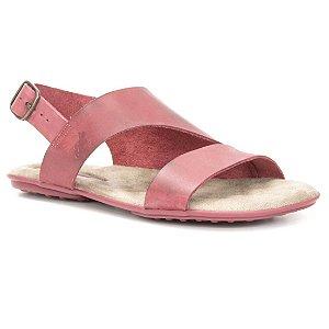 Sandália Rasteira Feminina em couro Wuell Casual Shoes - Ceros - VN 303232 - vermelha