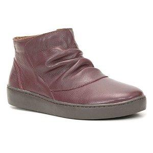 Bota Feminina em Couro Wuell Casual Shoes - RO 5185 - bordô