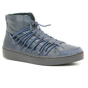 Bota Feminina em Couro Wuell Casual Shoes - RO 5085 - azul