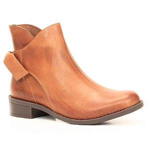 Bota Feminina de salto baixo em Couro Wuell Casual Shoes - BZ 4350 - marrom