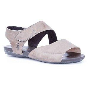 Sandália Rasteira Feminina em Couro Natural Wuell Casual Shoes - Yurus - VC 02010  –  chumbo