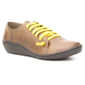 Sapato Feminino em Couro Natural Wuell Casual Shoes - RO 75010 - marrom