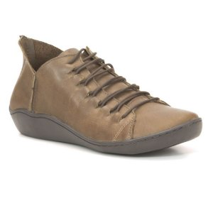 Sapato Feminino em Couro Natural Wuell Casual Shoes - RO 79410 - marrom