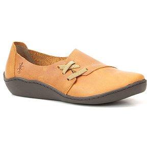 Sapato Feminino em Couro Natural Wuell Casual Shoes - RO 79210 - salmão